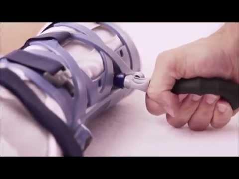 Benda medica sul ginocchio