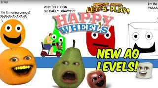 Annoying Orange Plays   Happy Wheels: NEW AO LEVELS