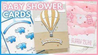 3 ADORABLE DIY BABY SHOWER CARD Ideas | Handmade Baby Cards
