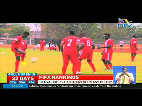 Harambee Stars drops to 88th in FIFA ranking as Germany go top