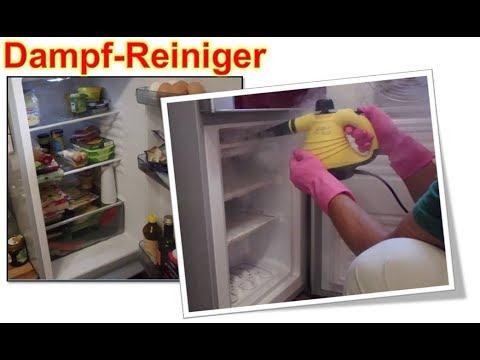 Kühlschrank Gefrierfach mit Dampfreiniger ohne Auftauen reinigen
