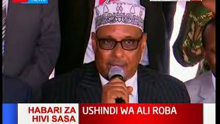 Mandera Governor Ali Roba speaks after High Court upheld his election