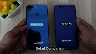 Honor 9 Lite Vs Honor 7x Detail Comparison I Design,Camera,Speedtest,Gaming | Hindi