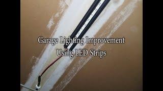 garage-lighting-improvement-using-led-strip-lights