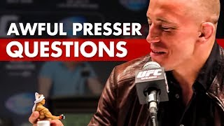 Hilariously Bad Questions Asked At Press Conferences