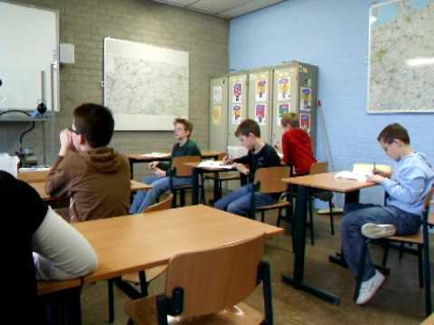 Introductiedag groepen 8 op Elzendaalcollege Boxmeer in 2008