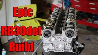 Epic RB30DET build // Installing the rb26 head // Rare king of RB's