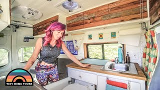 She Built A Nissan Work Van Into An Amazing Tiny House // Solo Female Vanlife