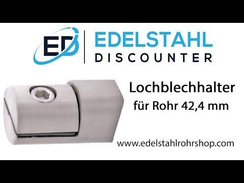 Lochblechhalter / Plattenhalter Edelstahl für Rohr 42,4 mm