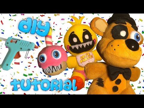DIY Random FNaF Characters Plush TUTORIAL! (No Sewing!)