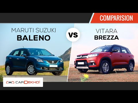 Maruti Baleno vs Maruti Vitara Brezza  | Comparison Review | CarDekho.com