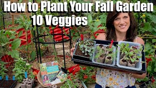 How to Start Seeds for Your Fall Garden-10 Vegetables to Plant / Fall Garden Series #1 🍁🥦🍁🌿