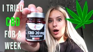 I TRIED CBD PILLS FOR A WEEK! *Surprising Results* (Anti-Anxiety, Anti-Depressant, Pain Relief)
