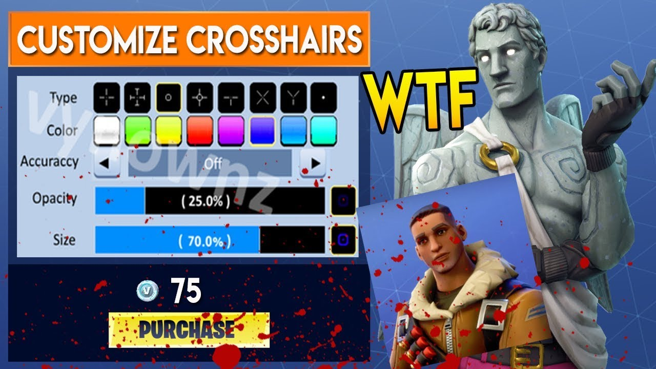 HOW TO* Customize Your CROSSHAIRS in Fortnite Battle Royale