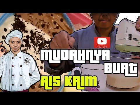 Video Buat Aiskrim tanpa telur oleh Chef Fox Madir