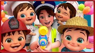 Jobs and Career Song +More Nursery Rhymes & Kids Songs - Banana Cartoons Original Songs [HD]