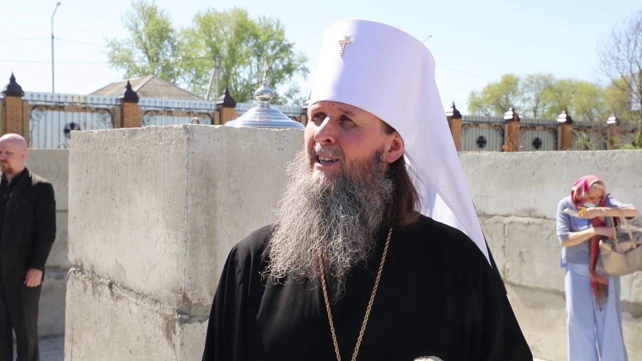 Митрополит Даниил совершил чин закладки храма иконы Божией Матери Казанская в Чимеевском монастыре