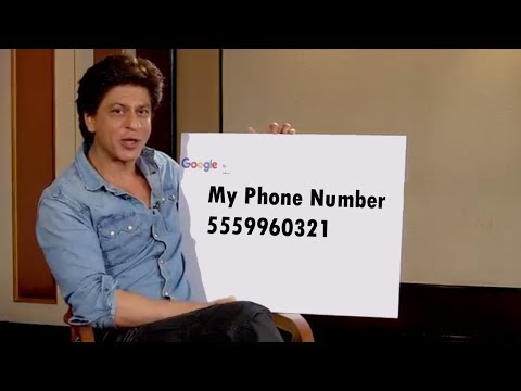 Download Shahrukh Khan tell His phone number Mp4 HD Video and MP3