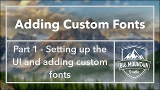 Part 1 - Adding Custom Fonts In IOS (Xcode 8, Swift 3)