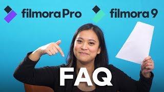 Your Filmora9 and FilmoraPro Questions Answered! | Filmora 2019 FAQ
