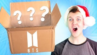 Opening A GIANT BTS CHRISTMAS K POP MYSTERY BOX!