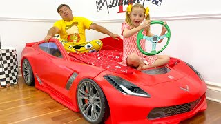 Nastya Makes A New Room For Dad