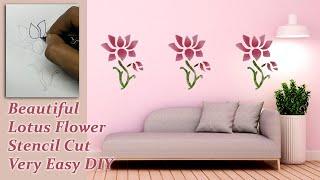 How To Make Lotus Flower Stencil Cut, Wall Art
