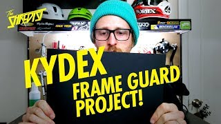 Making A DIY Frame Guard From Kydex! // Quick Bike Hack Project To Keep Your Downtube Protected