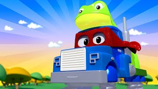The frog truck  - Carl the Super Truck - Car City ! Cars and Trucks Cartoon for kids