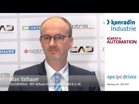 Geschäftsführer Marc Vathauer stand auf der Messe kurz Rede und Antwort zur Vorstellung der Messeexponate und wichtigen Themen der Branche.