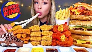 ASMR MOST POPULAR FOOD AT BURGER KING BIG WHOPPER, MAC N CHEESE BITES, CHICKEN SANDWICH, MUKBANG 먹방