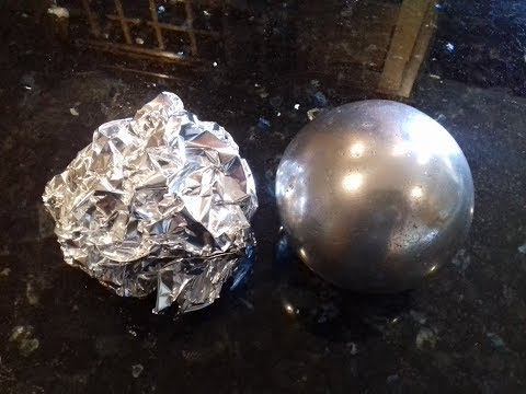 Turning Tinfoil Into a Perfect Sphere