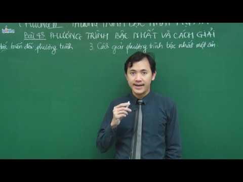 Phương trình bậc nhất một ẩn và cách giải - Toán 8