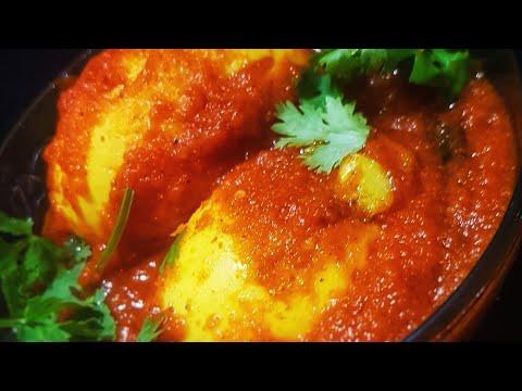 ONION & TOMATO EGG MASALA | #SPICYEGGMASALA #lunch - AALEEN KHAN RECIPES