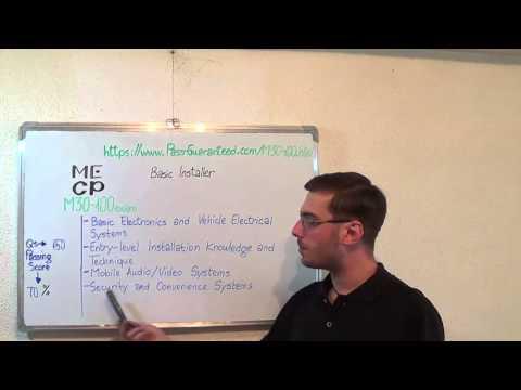 M30-100 – Basic Exam Installation Technician Test Certification ...