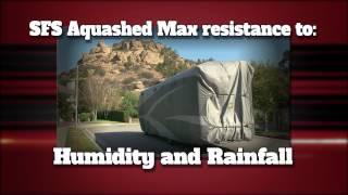 Covercraft Designer Series Aqua Shed Toy Hauler Trailer Cover - 1