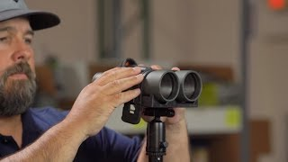 Different ways to mount binoculars to a tripod