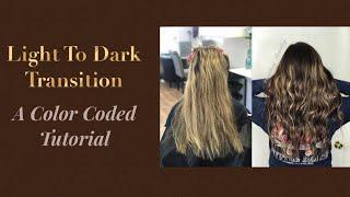 HOW TO DO A COLOR MELT LOWLIGHT   LIGHT TO DARK TRANSITION   TUTORIAL 2019