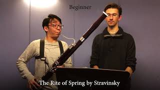 Professional vs Beginner Bassoon