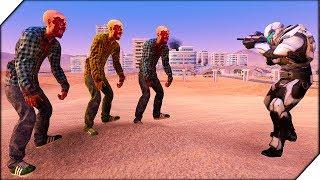 РАЗБОРКИ В ЛАС-ВЕГАСЕ Ultimate Epic Battle Simulator ЗОМБИ ПРОТИВ СОЛДАТ. Игра как зомби мультик