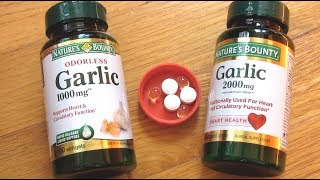 Natures Bounty Garlic Pills | Soft Gels vs Tablet