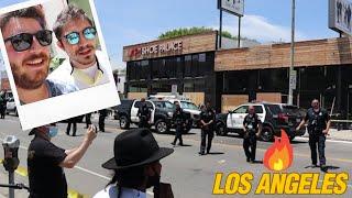 Herkese Merhaba arkadaslar bu videomuzda sizlere biraz son zamanlarda Los Angeles'ta yasanan olaylarla alakali bilgi verip sizlere olaylarin oldugu yerden goruntuler cektik. Simdiden videoyu izlediginiz icin tesekkurler. Iyi seyirler
