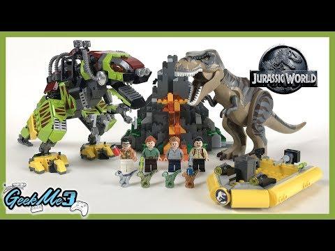 Vidéo LEGO Jurassic World 75938 : La bataille du T. rex contre le Dino-Mech