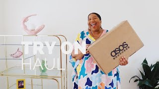 LET'S OPEN AND TRY ON THIS ASOS BOX OF PLUS SIZE GOODIES