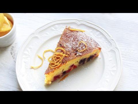 gâteau à l'orange délicieux à déguster