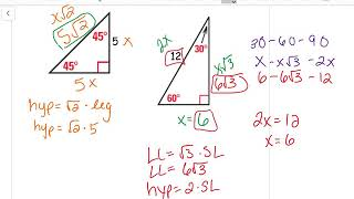 Special Right Triangles (11.1b)