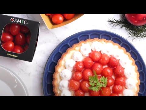 サプライズスイーツ!OSMICトマトだからできる「ミニトマトのタルト」【OSMICトマト簡単レシピ】