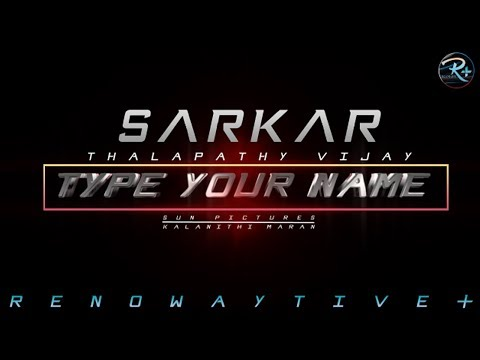How to create your name in movie font | TAMIL | HATRICK