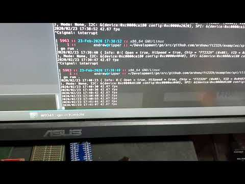 ILI9341 with FT232H and golang