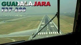 Cockpit Boeing 727 Mexico To Guadalajara (2003)